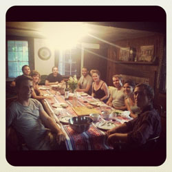 Artists in residence eat a farm-fresh dinner!