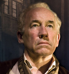 Simon Callow in the production's artwork