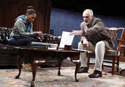 Angela Lewis and Michael Cristofer in <i>Don't Go Gentle</i>