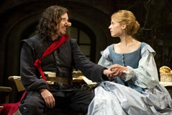 Douglas Hodge and Clemence Poesy in <i>Cyrano de Bergerac</i>