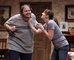 Daniel Everidge and Julia Murney in &lt;i&gt;Falling&lt;/i&gt;