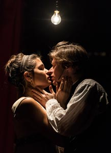 Philiipa Soo and Lucas Steele in &lt;I&gt;Natasha, Pierre, &amp; The Great Comet of 1812&lt;/i&gt;