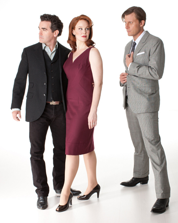 Brian d'Arcy James, Kate Baldwin, and P.J. Griffith in <i>Giant</i>