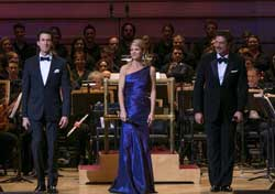 Aaron Lazar, Kelli O'Hara, and Paulo Szot with The New York Pops