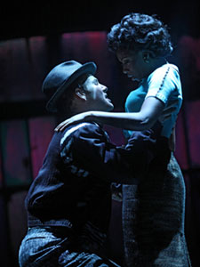 Chad Kimball and Montego Glover in the Broadway production of <i>Memphis</i>