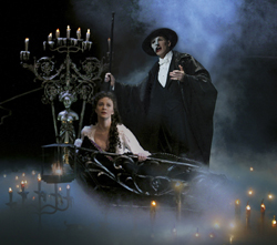 Current <i>Phantom</i> cast members Trista Moldovan and Hugh Panaro