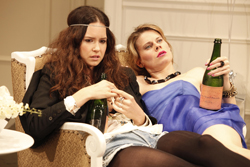 In <i>Bachelorette</i>, Katherine Waterston and Celia Keenan-Bolger played a pair of party girls who imbibed spirits by the bottle.