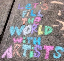 Sidewalk art by Sarah V. Smithton