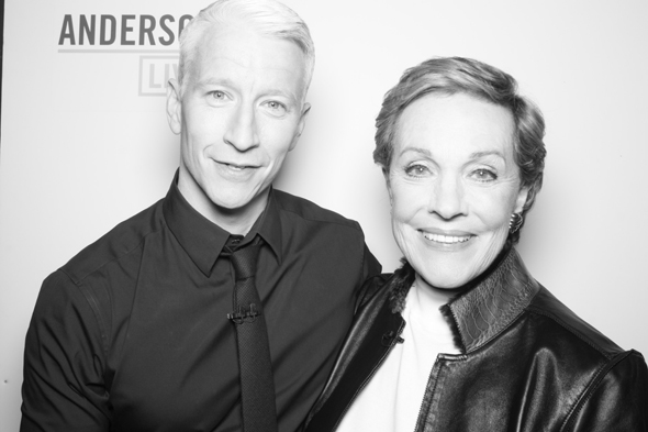 Anderson Cooper and Julie Andrews