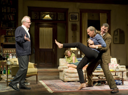 Tracy Letts, Carrie Coon, Amy Morton, and Madison Dirks in <i>Edward Albee's Who's Afraid of Virginia Woolf?</i>