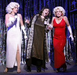 <i>Forbidden Broadway</i>'s Natalie Charlé Ellis, Marcus Stevens, and Jenny Lee Stern