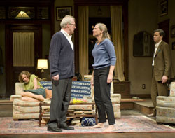 Carrie Coon, Tracy Letts, Amy Morton and Madison Dirks in <i>Who's Afraid of Virginia Woolf?</i>