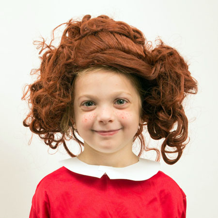 how to make adult wig fit child