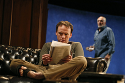 David Wilson Barnes and Michael Cristofer in <i>Don't Go Gentle</i>
