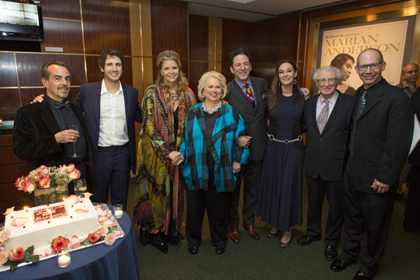 Lee Musiker, Josh Groban, Susan Graham, Barbara Cook, John Pizzarelli, Jessica Molaskey, Sheldon Harnick, and Ted Rosenthal at Carnegie Hall.