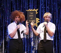 Marcus Stevens and Scott Richard Foster in <i>Forbidden Broadway: Alive and Kicking</i>