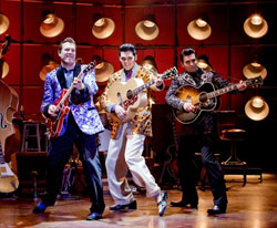A scene from the national touring production of <i>Million Dollar Quartet</i>.