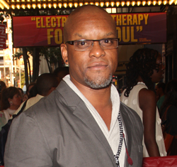Kevin Mambo at the Broadway re-opening of <i>Fela</i> in 2012.