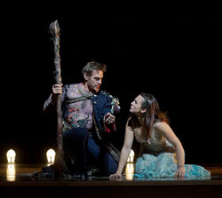 Simon Keenlyside and Isabel Leonard in <i>The Tempest</i>