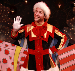 Paolo Andino as Crumpet the Elf in <i>The Santaland Diaries</i>