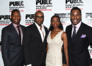 Colman Domingo, Tonya Pinkins, Liev Schreiber at The Public's <i>Wild With Happy</i> Opening