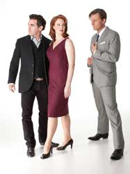 Brian d&#039;Arcy James, Kate Baldwin, and P.J. Griffith in &lt;I&gt;Giant&lt;/i&gt;