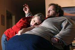 Tasha Lawrence and Shuler Hensley in <i>The Whale</i>