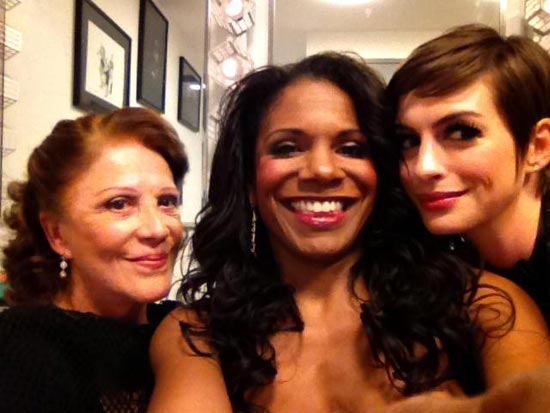 Tony-winners Linda Lavin and Audra McDonald joined Oscar nominee Anne Hathaway for an evening of tunes from the musical <i>Cabaret</i> at Joe's Pub on October 24.