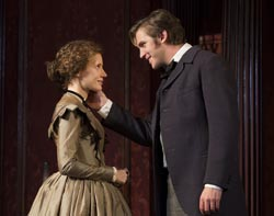 Jessica Chastain and Dan Stevens in <i>The Heiress</i>