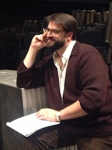 Christopher Dippel hard at work directing Hofstra University's <i>The Learned Ladies</i>.