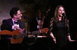John Pizzarelli and Jessica Molaskey performing at the Cafe Carlyle.