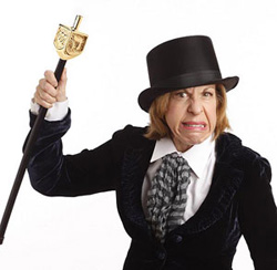 Jackie Hoffman in a promotional photo for <i>A Chanukah Charol</i>.
