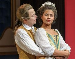 Sean McNall and Jolly Abraham in <i>Figaro</i>