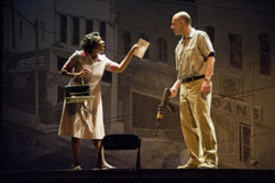 Aisha Hinds and John Bedford Lloyd in the Barringston Stage Production of <i>The Best of Enemies</i>