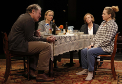 Jay O. Sanders, Laila Robins, J. Smith-Cameron, and Maryann Plunkett in Richard Nelson's <i>Sorry</i>.