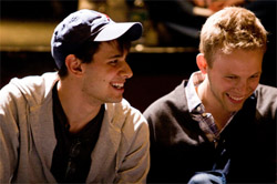 Benj Pasek and Justin Paul working on <i>24 Hour Musicals</i>
