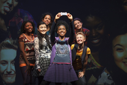 Joaquina Kalukango, Olivia Oguma, Sade Namei, Ashley Bryant, Emily Grosland, and Molly Carden in <i>Emotional Creature</i>