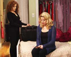 Megan Hilty and Bernadette Peters in <I>Smash</i>