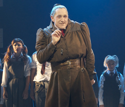 Bertie Carvel as Miss Trunchbull in London's <i>Matilda the Musical</i>.
