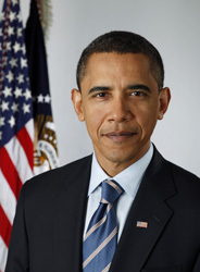 Official portrait of President Obama <br>4 More Years!