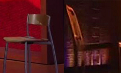 Elaine Strich's Stool plays Clint Eastwood's Empty Chair in the imaginary <i>Election 2012: The Musical</i>.