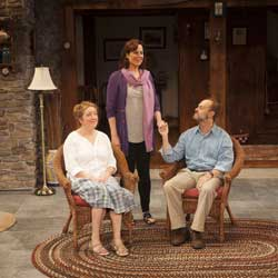Kristine Nielsen, Sigourney Weaver, and David Hyde Pierce in <I>Vanya and Sonya and Masha and Spike</i>