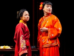 Julyana Saelistyo and Jennifer Lim in <i>Golden Child</i>
