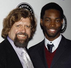 Public Theater Artistic Director Oskar Eustis with playwright Tarell Alvin McCraney