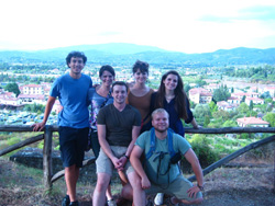 The six CCU Students currently in Arezzo. From Top L to Bottom R: Stephen C, Elyse B, Haley C, Brantley I, Richie S, and Caleb M.