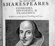 Front plate to Shakespeare's folio (which can be viewed at The British Library)
