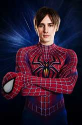 Reeve Carney in the <I>Spider-Man Turn Off the Dark</i> calendar