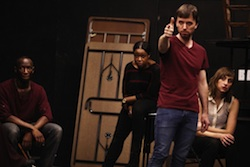 Phillip James Brannon, Quincy Tyler Bernstine, Erin Gann, and Lauren Blumenfeld in <i>We Are Proud to Present...</i>