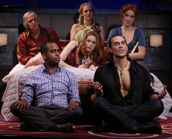 Henry Winkler, Alicia Silverstone, Jenni Barber, Ari Graynor, Cheyenne Jackson, and Daniel Breaker in <i>The Performers</i>.