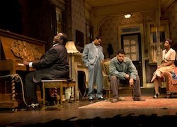 Chuck Cooper, Jason Dirden, Brandon Dirden, and Roslyn Ruff in <i>The Piano Lesson</i>